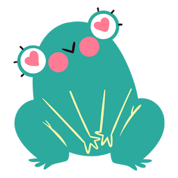 Loving frog character cute