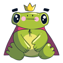 King frog cartoon illustration