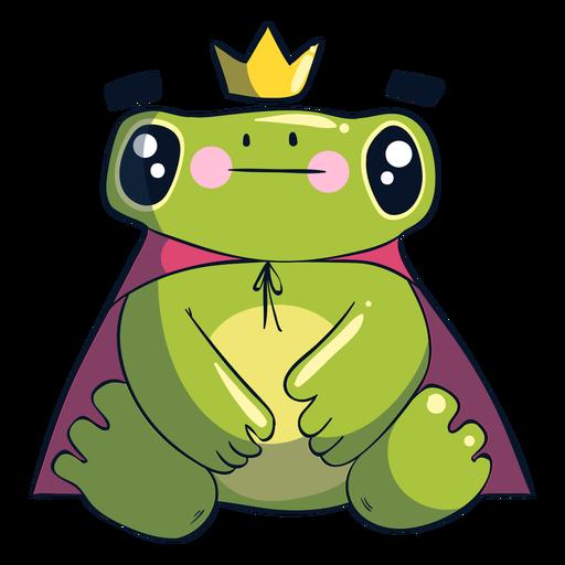 Ilustración de dibujos animados de rana rey