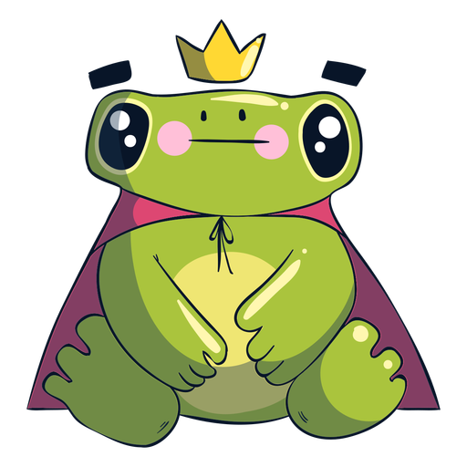 König Frosch-Cartoon-Illustration