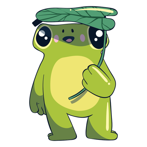 Ilustración de rana feliz