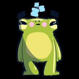 Sleepy frog illustration