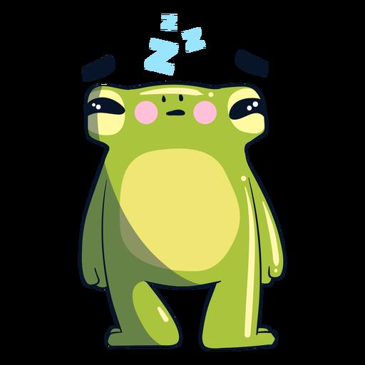 Ilustración de rana soñolienta