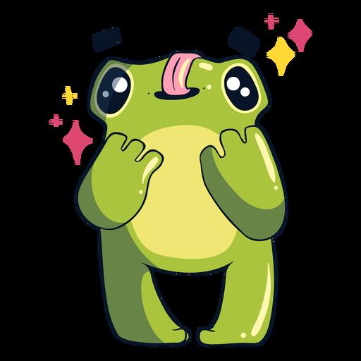 Silly frog illustration