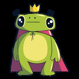 Ilustración del rey rana