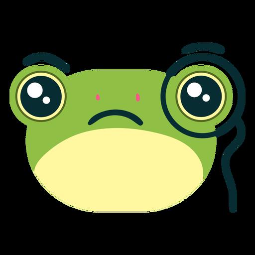 Curious frog face
