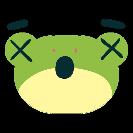 Cara de rana sorprendida