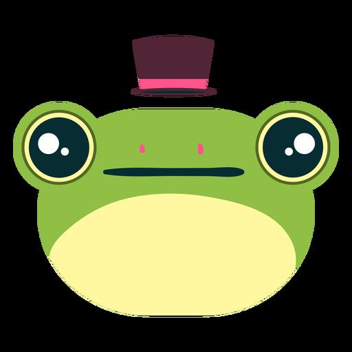 Cara de rana elegante