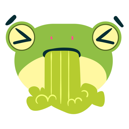 Sick frog face