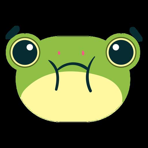 Frog face sad animal