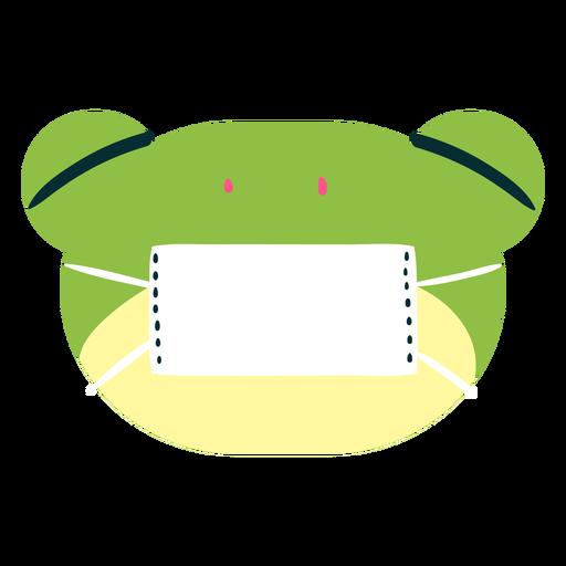 Frog wearing face mask