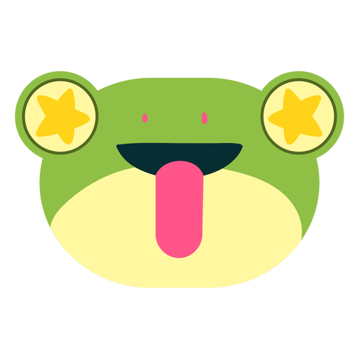 Excited face frog