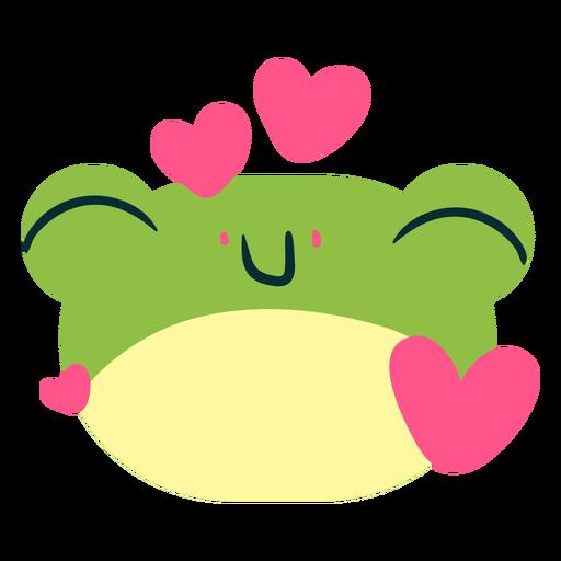 Loving frog face