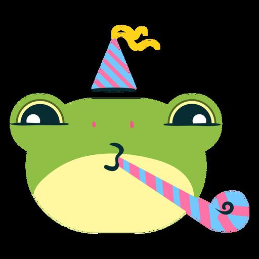 Emoji de sapo de aniversário