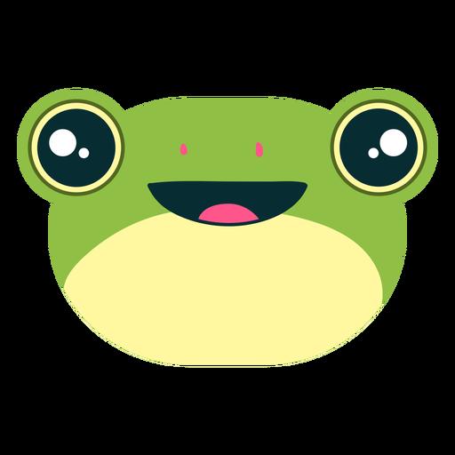 Smiling cute frog emoji