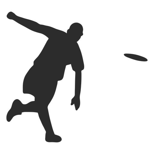 Man throwing frisbee silhouette