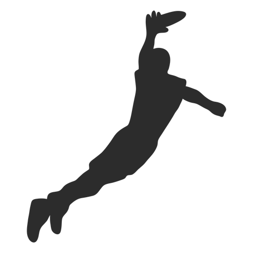 Man Catching Frisbee Silhouette