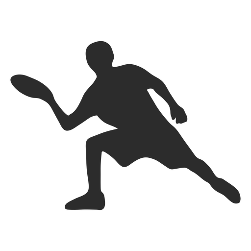 Man Kneeling Throw With Frisbee Silhouette