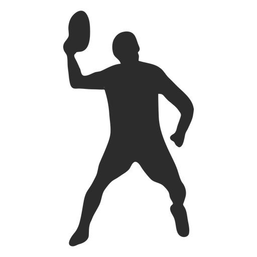 Man standing throwing frisbee silhouette
