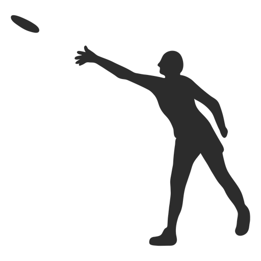 Standing man throwing frisbee