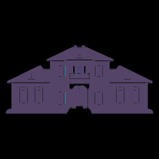 Classic old big mansion icon