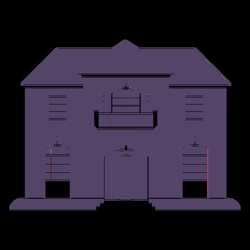 Classic big american house icon