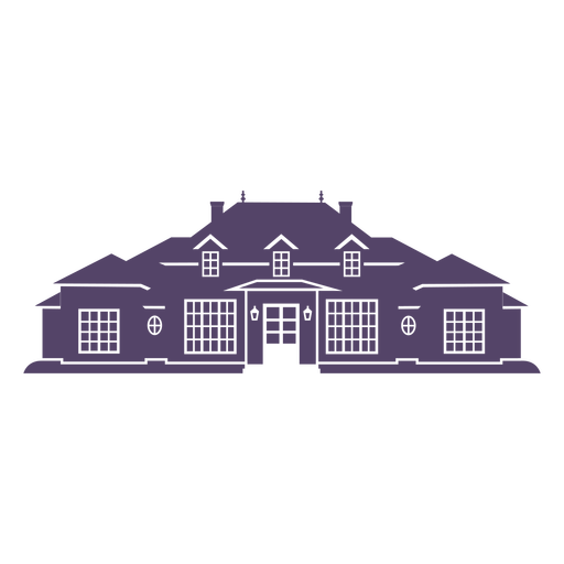 Classic traditional big house icon