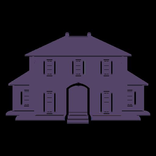 Elegant two stories house icon