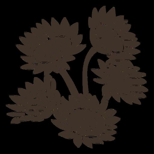 Sunflower garden cut-out Transparent PNG