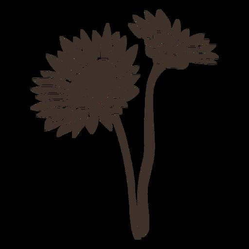 Sunflower pair silhouette
