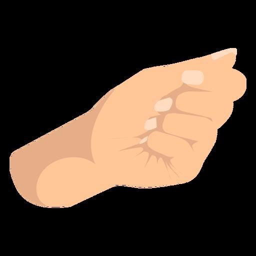 Closed fist hand sign semi flat