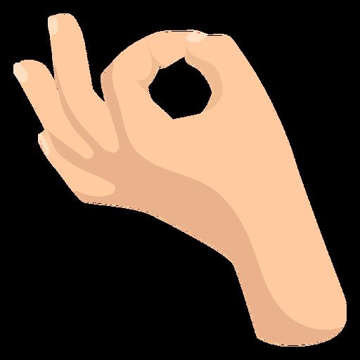 Ok semi flat hand sign