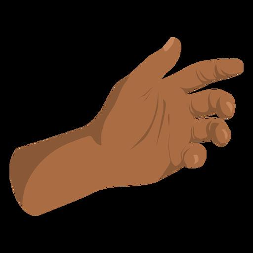 Open hand semi flat sign