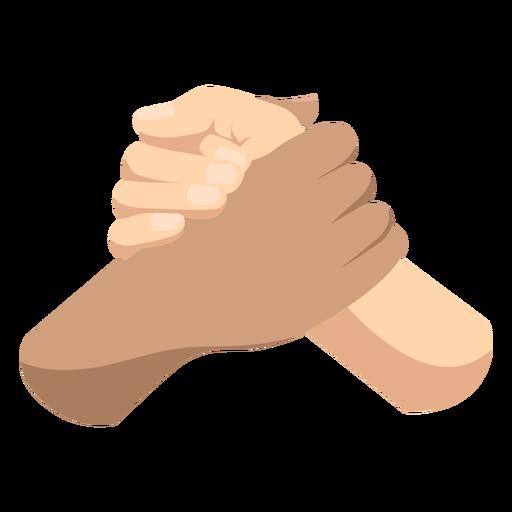 Semi flat handshake