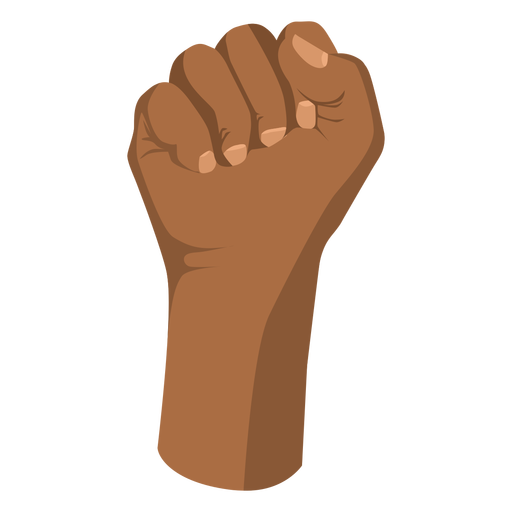 Raised semi flat fist hand sign
