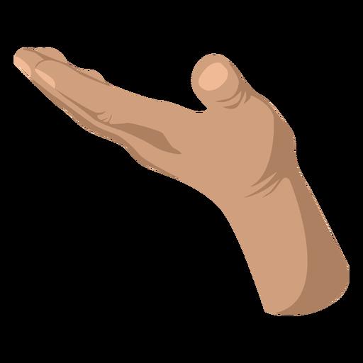Semi flat open hand sign