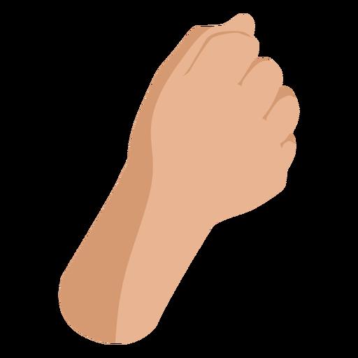 Raised fist semi flat sign