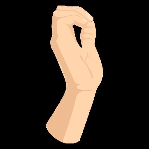 Fingers joining thumb hand sign semi flat