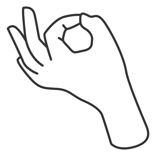 Fingers joining thumb hand sign stroke
