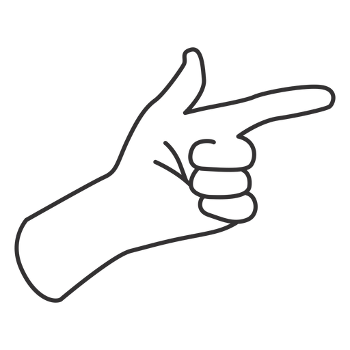 Pointing with index finger stroke hand sign