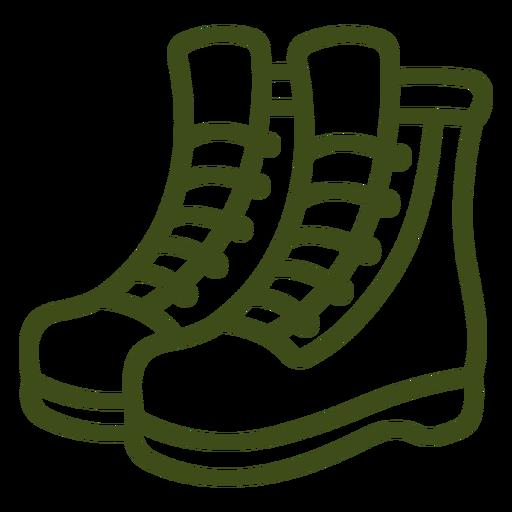 Soldier combat boots pair