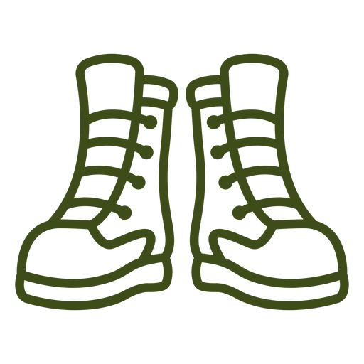 Simple pair of boots stroke