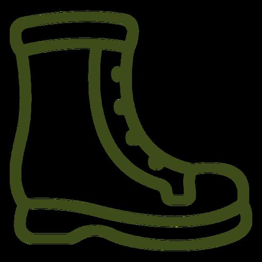 High boot stroke profile