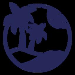 Tropical destination silhouette