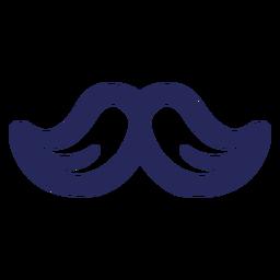 Moustache blue line art