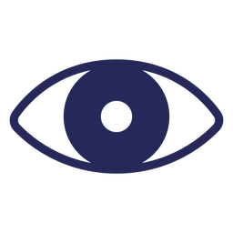 Eye staring filled-stroke