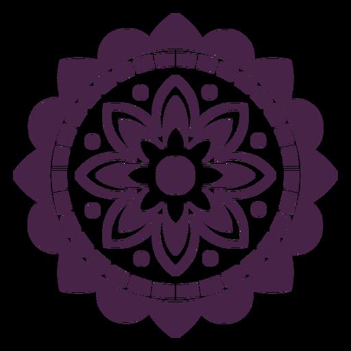 Mandala floral decoration