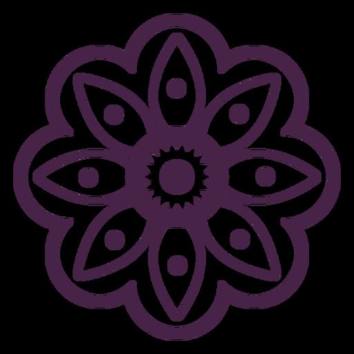 Mandala flower petals design