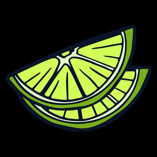 Lime fruit slices Transparent PNG