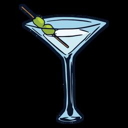 Beber cóctel martini